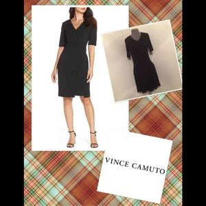 Vince Camuto v neck  Little Black Dress Sz 8